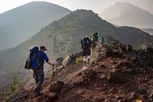 group of person walking safe outdoor trekking guidelines